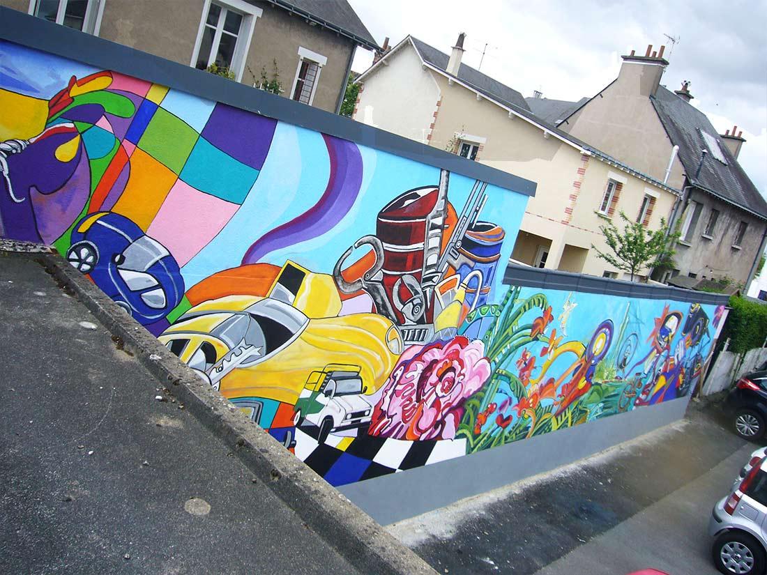 Fresque Garage Moisy Extérieur Ng Décoration