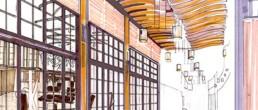 NG Décoration Concept & Croquis décoration Hall Centre commercial